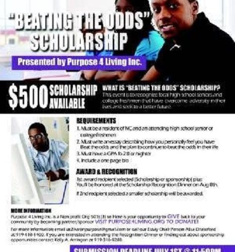 "Beating the Odds Scholarship ""Awards & Recognition"" July"